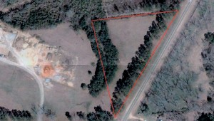 The Butler County Commission has unofficially offered five acres of land to The Butler County Humane Society for them to build a second chance shelter. The red triangle represents an estimate of 5.67 acres mapped out on Google Maps.