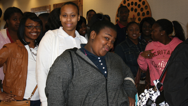 LBW Community College in Greenville recently welcomed Greenville High School seniors to College 101, one of five schools represented at the event. Students learned about the various programs available at LBWCC, met instructors, and obtained valuable information as they prepare to become college students. Pictured are Maricia Simpson, Jessica Seawright, and Lakneacu Williams. (Submitted Photo)