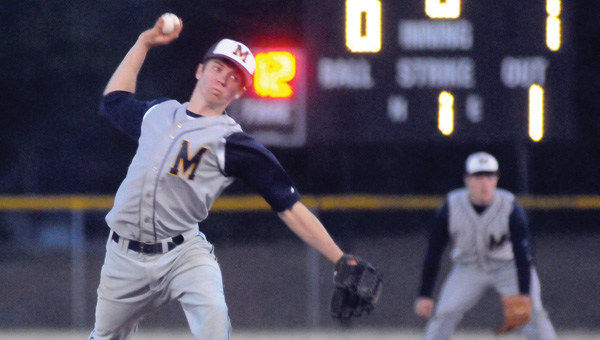 McKenzie School right-hander Dustin Moorhead earned a complete-game victory over Greenville High School Thursday night at Beeland Park. (Advocate Staff/Andy Brown)