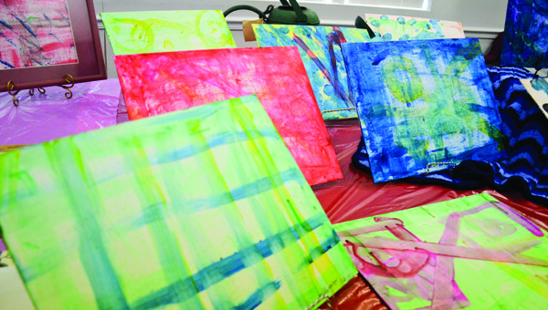 Some of the art Warren has created is on display at the Luverne Public Library this week.