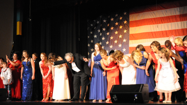 The cast of the seventh annual Putting on the Ritz peformances takes a bow. (Advocate Staff/Andy Brown)