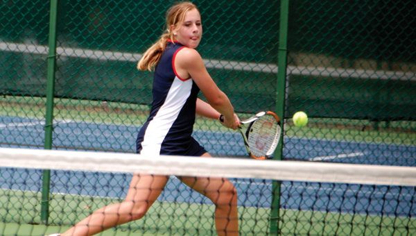 Fort Dale Academy's Madison Ann Gaston helped the Lady Eagles capture their third runner-up finish at the AISA state tennis championship.