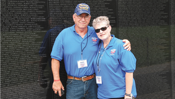 Dave and Margaret Fox traveled to Washington D.C. this past weekend with an Honor Flight.  He is a Vietnam veteran, and the couple is pictured in front of the Vietnam memorial.