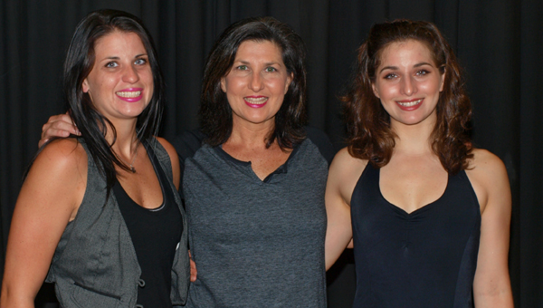 Dance and fitness studio owner Sonya Rice, center, is flanked by her two daughters, Cory, left, and Courtney, right. Rice's daughters fly in each year to support their mother's big event each June. (Photo Courtesy of Angie Long)
