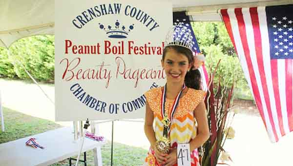 Miss Peanut Boil Festival & Photogenic Winner Abby Whiddon CONTRIBUTED PHOTOS