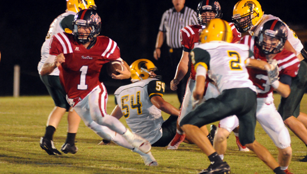 Fort Dale Academy senior Ryan Burkett rushed for 148 yards and a touchdown in the Eagles' 34-14 win over Sparta. (Advocate Staff/Andy Brown)