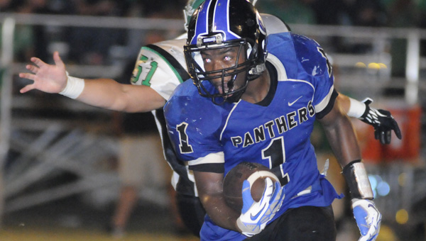 Ninth-grade running back Cameron Longmire is one of several Panthers looking for a regional rematch against the Brantley Bulldogs Friday.