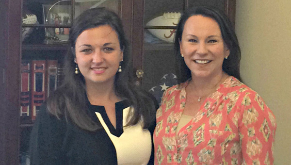 Fort Dale Academy senior Holland Steadham met Rep. Martha Roby while taking part in the University of Mississippi Trent Lott Leadership Institute. (Courtesy Photo)
