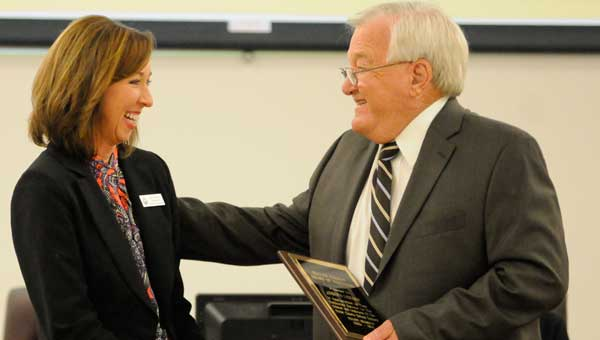 Board of Education member Joe Lisenby (pictured) and Billy Jones were honored for their years of service to the Butler County School System.