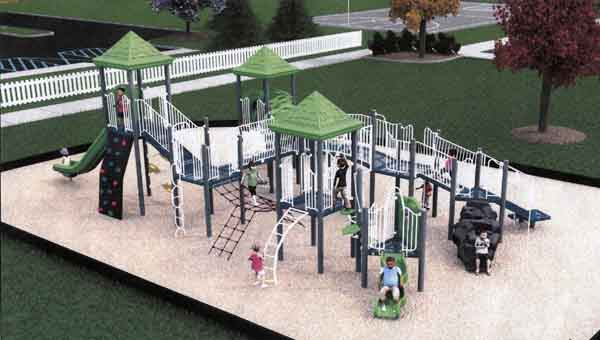 ARTIST RENDERING  The Luverne Park and Recreation Board released a rendering of the new playground that will be built in Turner Park.