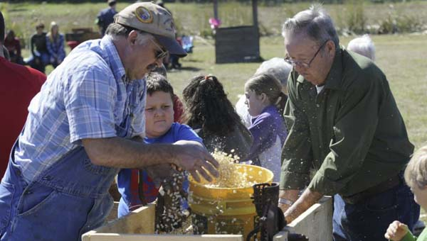Old Time Farm Day provides an opportunity for the county's senior population to educate and entertain the youth in regards to what life was like on the farm in the olden days.