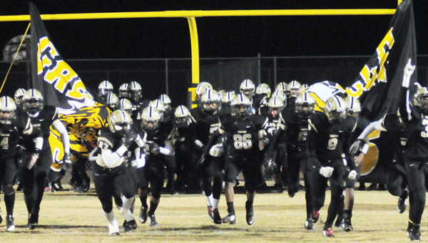 Advocate staff / Jonathan bryant The Greenville Tigers travel to play Jackson in the third round of the Class 5A state playoffs Friday night. GHS is coming off a double-overtime win over Calera. | ADVOCATE STAFF / ANDREW GARNER