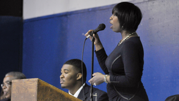 Judge Tracie A. Todd speaks at the Butler County Civic League's Rev. Martin Luther King Jr. Freedom Breakfast Monday morning. | ADVOCATE STAFF / ANDREW GARNER
