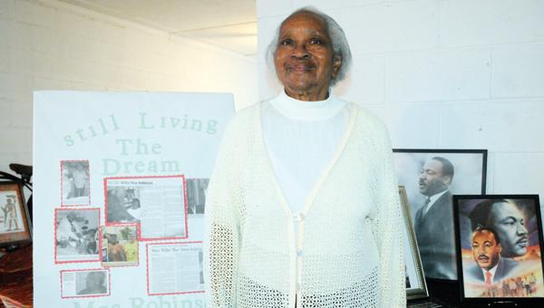 Willie Mae Robinson is shown here with memorabilia from the Civil Rights era. | ADVOCATE FILE PHOTO