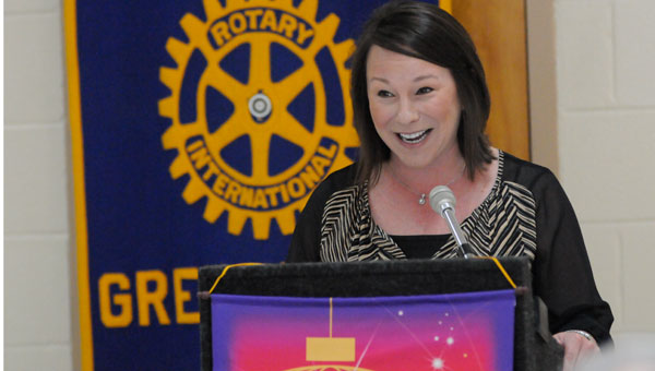 Representative Martha Roby discussed military budget and homeland security concerns during Thursday's Rotary meeting.