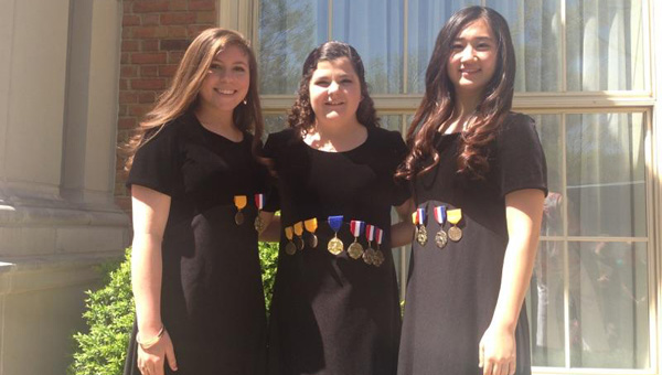 Pictured, from left to right, are Mary Hannah Miller, Caitlin Edgar and Lynn Choi. (Courtesy Photo)