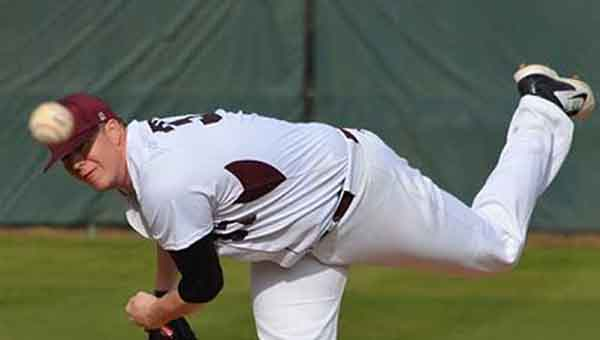 CONTRIBUTED PHOTO University of Mobile pitcher Corey Hale was named SSAC Pitcher of the Year. He is a graduate of Luverne High School and a senior at UM.