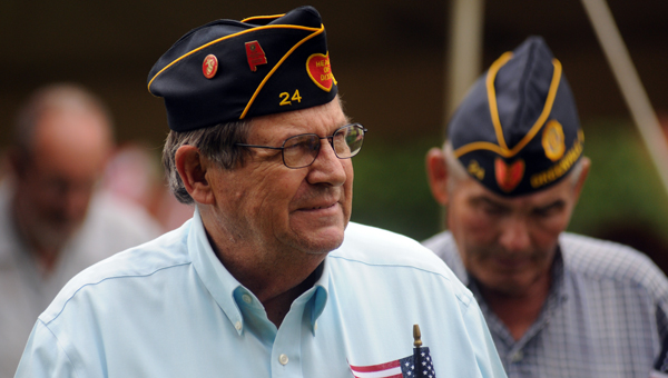 Jerry Myers was among the veterans that took part in the Walk of Honor during Monday's Memorial Day Celebration in Greenville's Confederate Park. (Advocate Staff/Andy Brown)