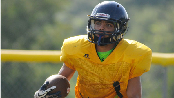 Receiver Condie Pugh, a senior in the fall, is one of several players taking on a leadership role headed into the fall 2015 season.