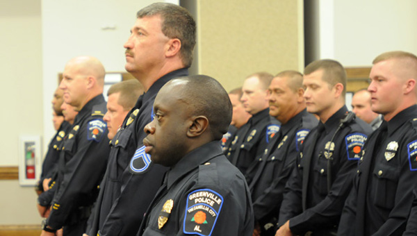 Local law enforcement officers will take part in a memorial service Wednesday honoring the Greenville Police Department's  fallen officers, as well as fallen deputies that served with the Butler County Sheriff's Office. (File photo)