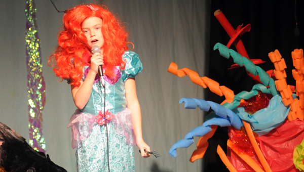 """W.O. Parmer Elementary School's Alyssa Johnson portrayed Arial in the school drama club's production of The Little Mermaid Jr."""" (Advocate Staff/Andy Brown)"""
