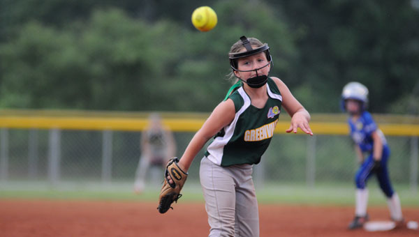 Pitcher Anna Parker Little and the remainder of the Greenville Dixie Angels defense held Taylor-Rehobeth to zero runs for three full innings of play.