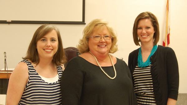 The Butler County Board of Education approved on Thursday the hire of three new Bright Beginnings teachers. Pictured are, from left to right, Amanda Coghlan, McKenzie; Jean Hardin, Greenville; and Tonya Till, Georgiana. (Advocate Staff/Beth Hyatt)