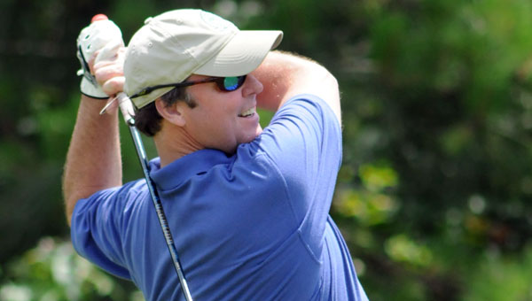 Bill Lewis was one of 40 area golfers in attendance during Greenville High School's first golf tournament fundraiser. The tournament raised $17,000 for the use of GHS's booster club.