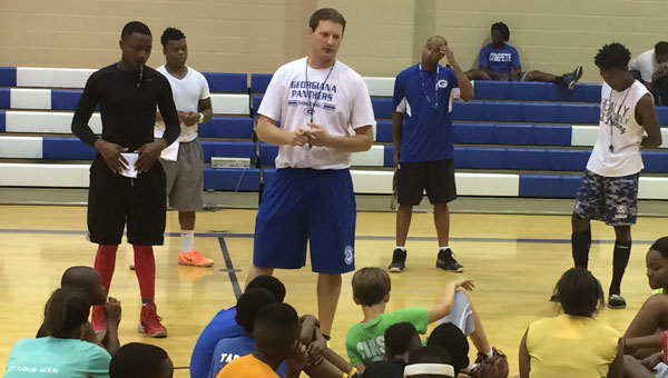 Georgiana head basketball coach Kirk Norris and his coaching staff schooled a crowd of youngsters Tuesday afternoon on the importance of fundamentals during the team's annual summer basketball camp.