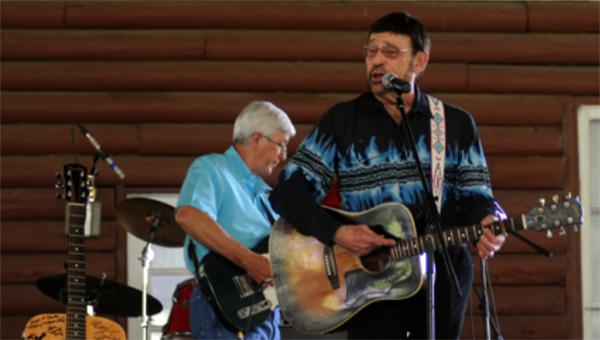 Terry Smith, Nashville Songwriter's Association Songwriter of the Year winner for 1995 and 1996, performs at the 36th annual Hank Williams Festival in Georgiana. (Advocate Staff/Beth Hyatt)