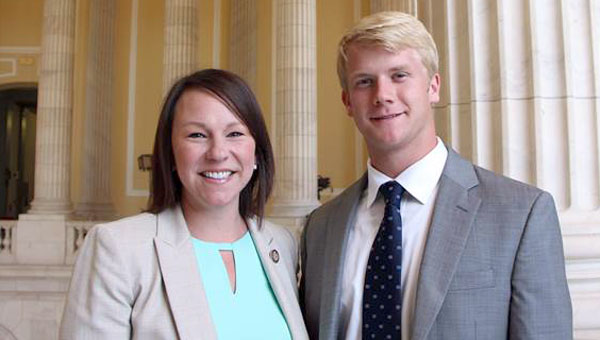 Brandon Matthews, a student at Troy University and a Greenville native, served as a Congressional intern in the D.C. office of U.S. Representative Martha Roby (R-AL) this summer. (Courtesy Photo)