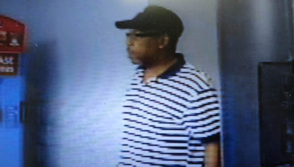 The Greenville Police Department is searching for a man suspected of stealing a purse that was left unattended in the Walmart parking lot. (Photo courtesy of the Greenville Police Department)