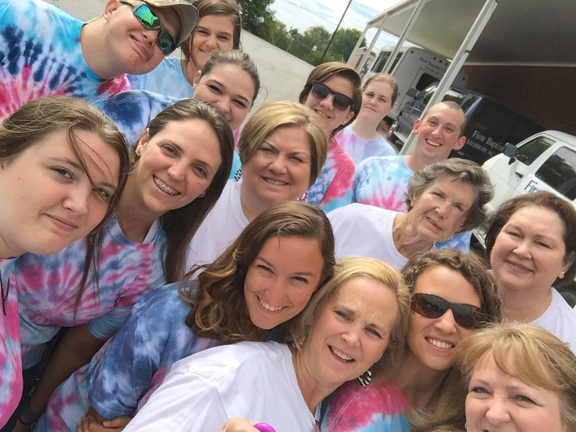 A group of 15 participants from Southside Baptist and Springhill Baptist Church attended the World Changers mission project in Rockingham, North Carolina, July 3-11. Pictured, first row, left to right, Shelby Heartsill, Jennifer Mikolsjaski, Mollie Boutwell, Lisa Townes, Blake Townes and Ginny Mikolsjaski. Second row, left to right, Stevie Heartsill, Alex Courtney, Cheryl Stanford, Martha Skipper and Cara Wood. Third row, left to right, Tiffany Simms, Baylee Eskridge, Analeise Trawick and Shane Mikolsjaski. (Courtesy Photo)