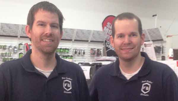 CONTRIBUTED PHOTO Steven (left) and John Frost have decided to make Frost Brothers' Electronics an independent store, shedding ties to RadioShack. The changes will take place in the coming months.