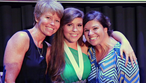 Hannah Miller poses with her proud aunt, Michelle Myrick (left) and her mom, Nicki McFerrin (right) after being named the 2016 Butler County Distinguished Young Woman Saturday night at the Ritz Theatre. (Advocate Staff/Angie Long)