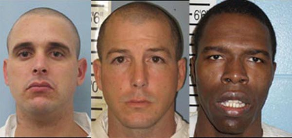 Left to right,, Dennis Calaway, Kevin Campbell and Deandre Tompkins escaped from Elba Work Release custody this week. Campbell has since been spotted in the Highland Home area.
