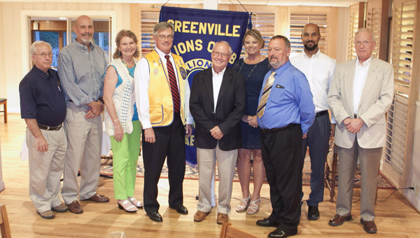 The Greenville Lions Club recently installed its officers for 2015-16. Pictured are Herbert Morton, president; April Gregory, first vice president; Mack Russell, second vice president; Hubert Little, treasurer; Ken Corley, tail twister and two year director; Ronald Burkett, lion tamer; Katie McCarty, two year director; James Packer, one year director; and Jesse McWilliams, one year director. Not pictured: Ricky Crysell, third vice president; Natalie Tindal, secretary; Colin MacGuire, greeter; and Pete Tutchtone, greeter. (Submitted Photo)