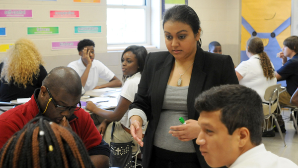 Greenville native Nikki Patel has returned home to teach A.P. and Pre-A.P. chemistry at Greenville High School. (Advocate Staff/Beth Hyatt)