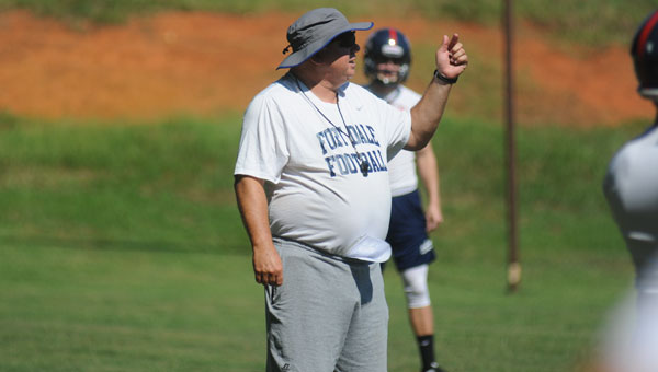"""James """"Speed"""" Sampley, who is entering his 17th year as head football coach of Fort Dale Academy, is one of 12 inductees to be honored as members of the Class of 2015 AISA Hall of Fame."""