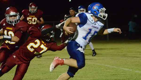 CONTRIBUTED PHOTOS | MERICA TISDALE Senior Britt Kelley scored Crenshaw Christian's two touchdowns against Escambia Academy.