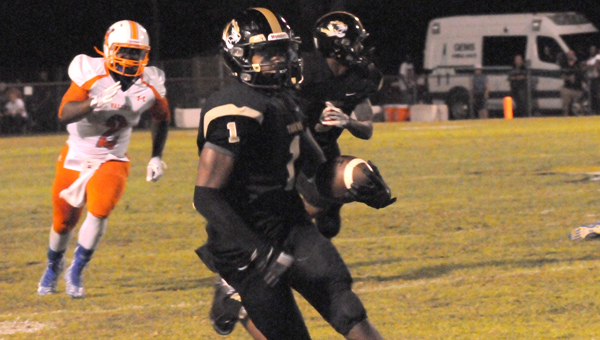 Greenville High School senior Ja'Quan Lewis has provided the Tigers' a spark as a change-of-pace quarterback. Lewis and the Tigers travel to face the Alabama Christian Eagles Friday night. Kickoff is set for 7 p.m. (Advocate Staff/Andy Brown)