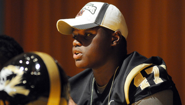 Greenville High School senior Marlon Davidson announced on Friday that he plans to play football at Auburn University. Davidson, who is set to graduate early and enroll in college in January, is one of the nation's most prized recruits. (Advocate Staff/Andy Brown)