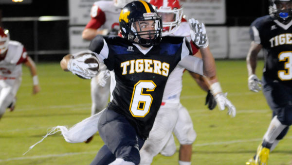 Condie Pugh reeled in 5 catches for 114 yards in McKenzie's 72-29 blowout victory over Pleasant Home.