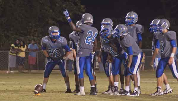 JOURNAL PHOTO | MONA MOORE Highland Home prepares for a kickoff after scoring a touchdown during the third quarter of last Friday's game.