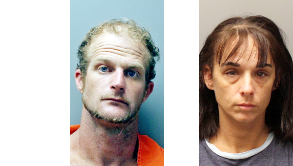 Tidwell (left) and Lowe  were arrested after a traffic stop Monday.