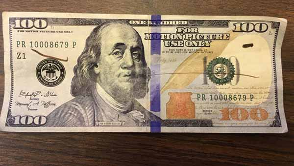 CONTRIBUTED PHOTO A fake bill was recently passed at a Crenshaw County business. Sheriff Mickey Powell asks businesses to be on the lookout for similar bills.