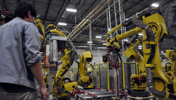 SMART Alabama, LLC is adding an additional production line tied to the new body style of the Elantra. The $60 million investment will create 30 news jobs at the plant. (Journal Staff/Mona Moore)