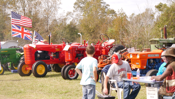 As always, a long line of tractors from a number of decades of the 20th century were on display at Old Time Farm Days. (Advocate Staff/Angie Long)