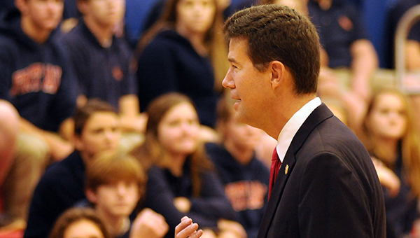 Alabama Secretary of State John Merrill spoke to students at Fort Dale Academy on Wednesday about voting, the SEC primary and the role his office plays in serving the citizens of Alabama. (Advocate Staff/Andy Brown)