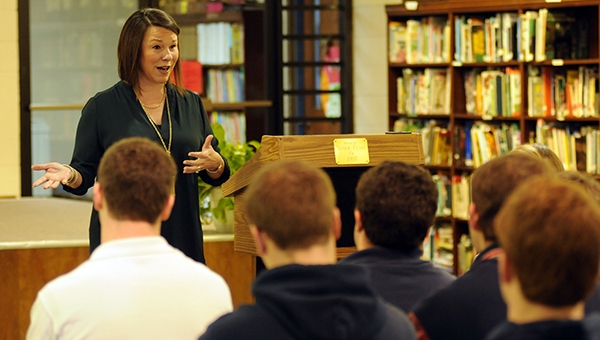 U.S. Rep. Martha Roby shared with Fort Dale Academy's senior class how she ended up on a path that ultimately led her from a high school student hoping to land a job in the music industry to a career in public service. (Advocate Staff/Andy Brown)